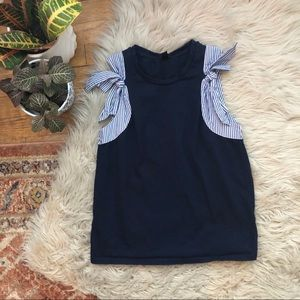 J. Crew Tops - J. Crew Bow Shoulder Top